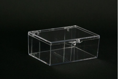 Picture of H-18AA, Hinged Box - Clear Polystyrene
