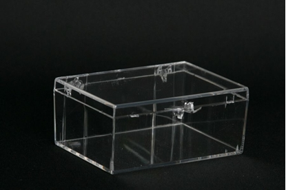 Picture of H-18A, Hinged Box - Clear Polystyrene