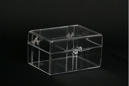Picture of H-18C, Hinged Box - Clear Polystyrene