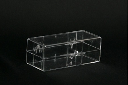 Picture of H-12, Hinged Box - Clear Polystyrene
