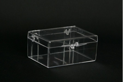 Picture of H-18B, Hinged Box - Clear Polystyrene