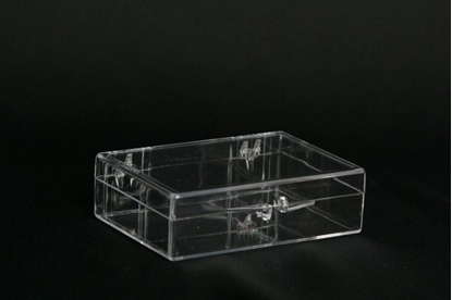 Picture of H-17, Hinged Box - Clear Polystyrene