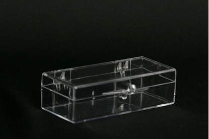 Picture of H-11A, Hinged Box - Clear Polystyrene
