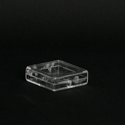 Picture of H-1, Hinged Box - Clear Polystyrene