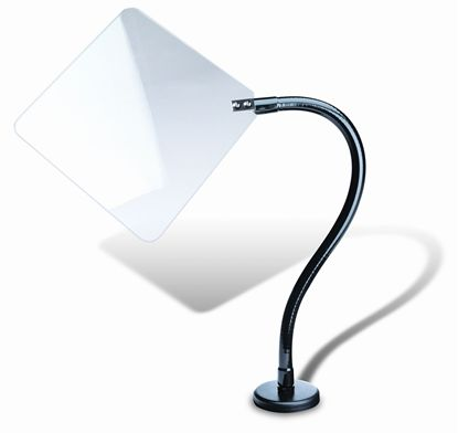 """Picture of Shield-95213, Flat Shield with 18"""" arm, c-clamp base, 12""""x12"""""""