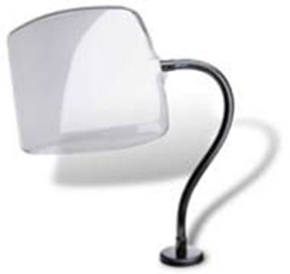 """Picture of Shield-95254, Curved Shield with 24"""" arm, c-clamp base, 11""""x12"""""""