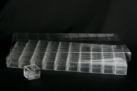 Accessories - Flat Containers for Display