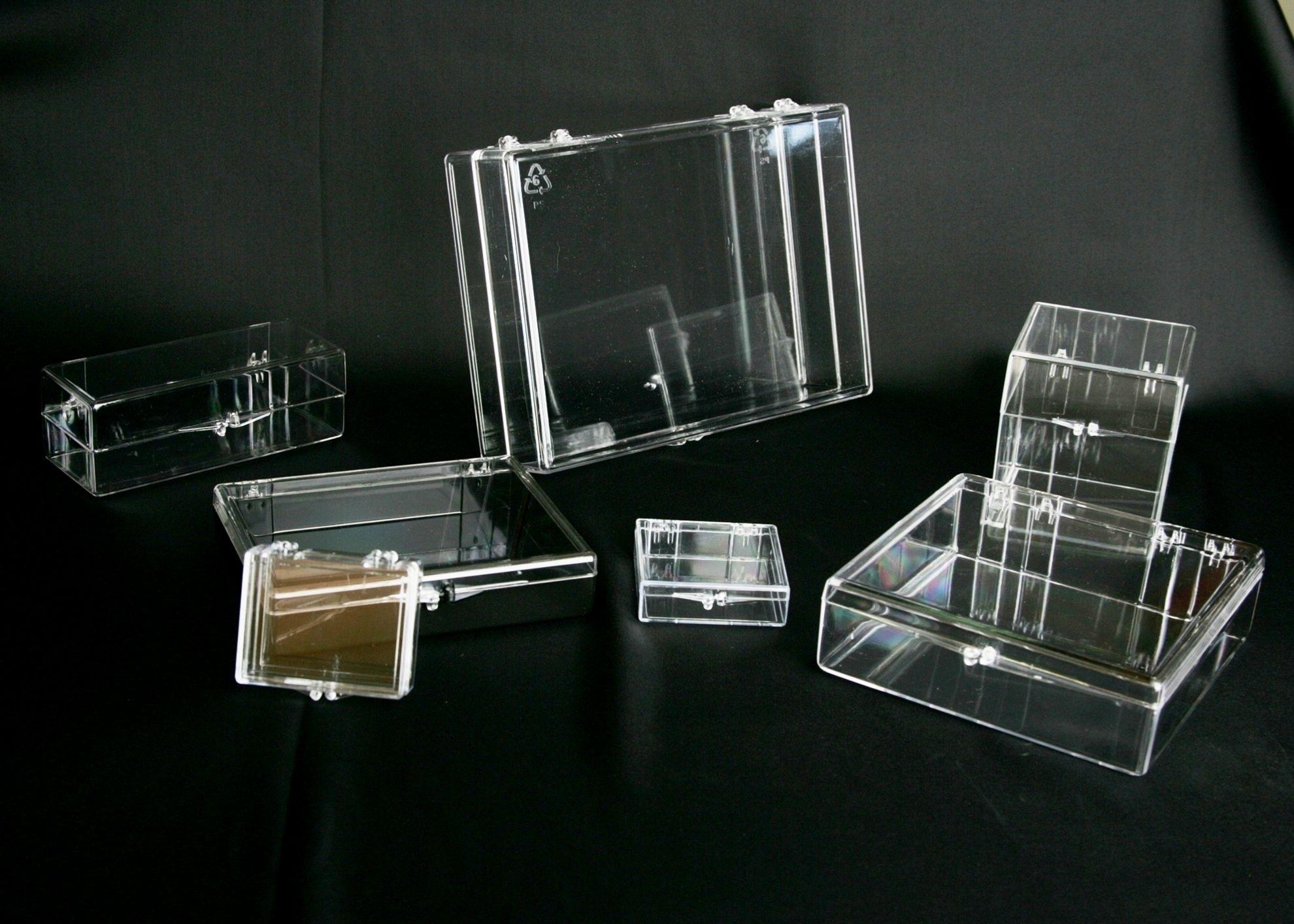Hinged Box - Clear Polystyrene