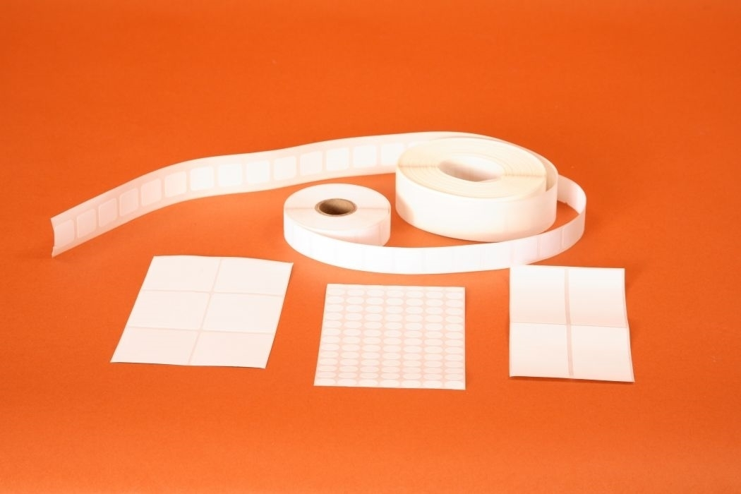 Oval Removable Adhesive Pressure Sensitive Label