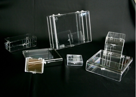 Hinged Box - Clear Polystyrene